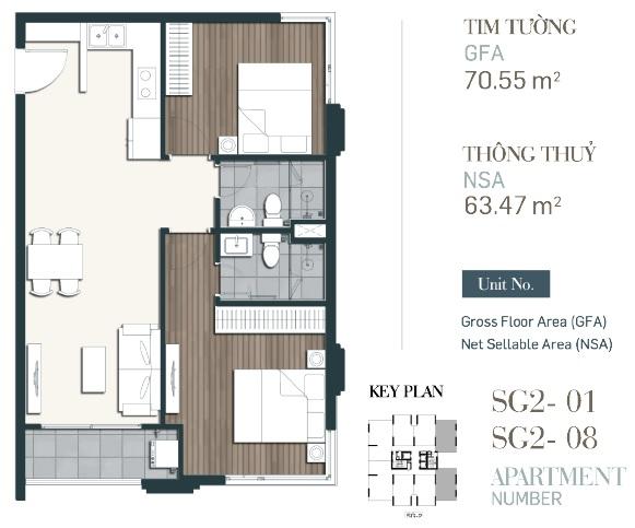 Căn hộ 2PN diện tích 63,78m2-70,55m2-du-an-southgate-tower-can ho quan  7 2